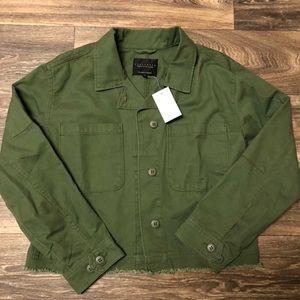 Anthropologie Sanctuary Olive Green Crop Jacket